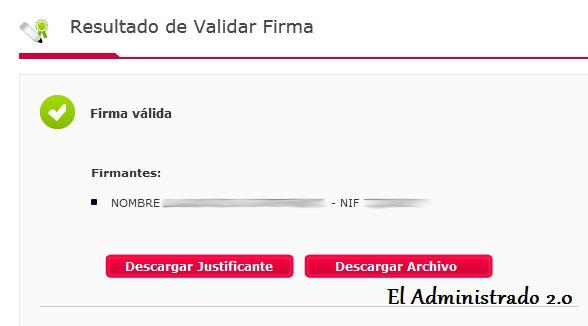 Cómo confirmar la validez de una firma en VALIDe