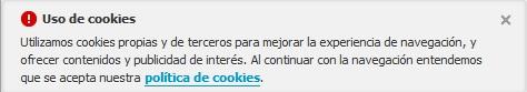 Aviso de uso de cookies