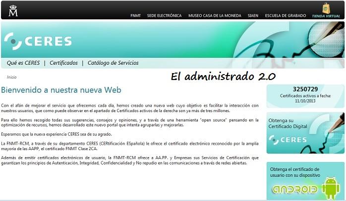 Nueva imagen de la web del CERES