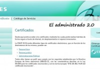 Certificados digitales CERES