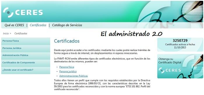 Certificados digitales CERES