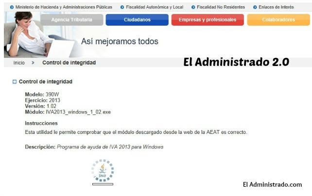 Control de la integridad de programas de la AEAT