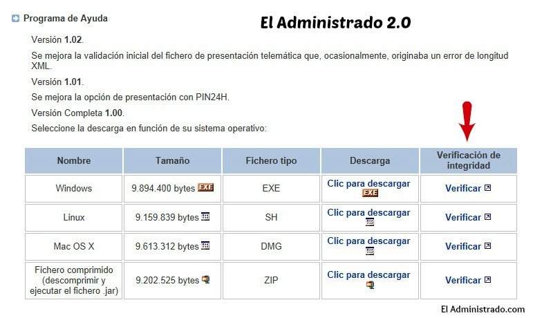 Verificar version programa para modelo 390