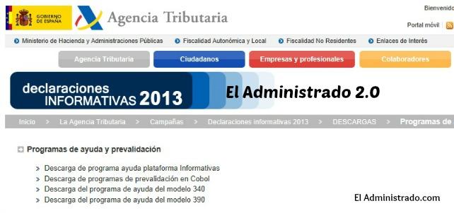 Programa de ayuda para declarativa anual del IVA