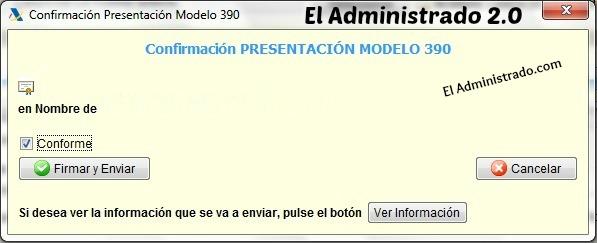 Confirmar presentacionModelo 390 del IVA con certificado digital