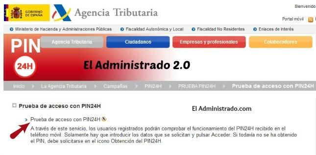 Prueba del PIN24H