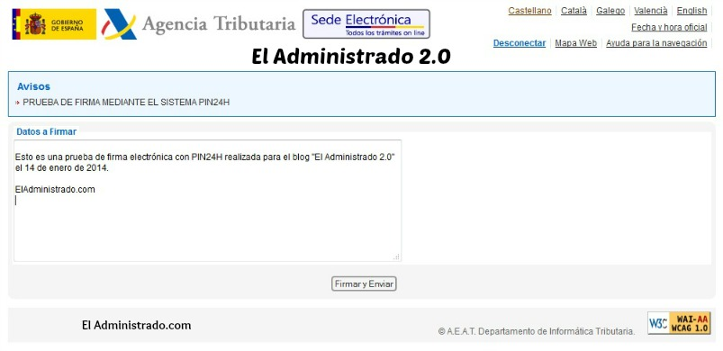 Firma con PIN24H