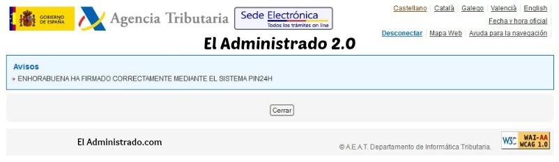 Firma correcta con PIN24H