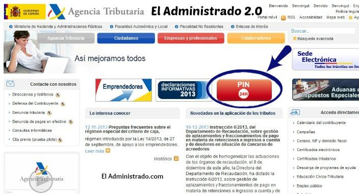 PIN24H de la Agencia Tributaria Española
