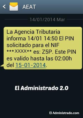 SMS con PIN24H
