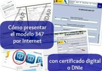 Cómo presentar el modelo 347 con un certificado digital o el DNIe