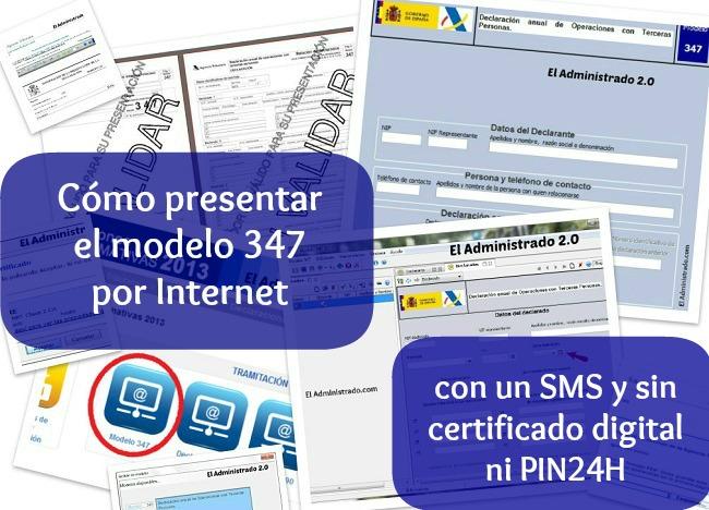 Cómo presentar el modelo 347 con un SMS