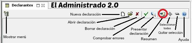 Botón de Resumen del modelo 347