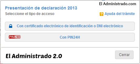 Elije entre presentar el modelo 347 con certificado digital o PIN24H