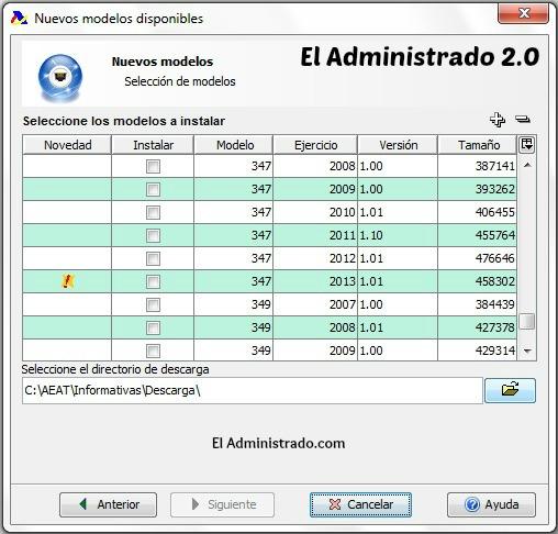 Novedades en los modelos del programa de la AEAT