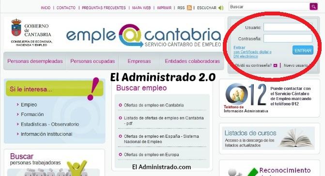 Busca el acceso de los usuarios a la web de empleo