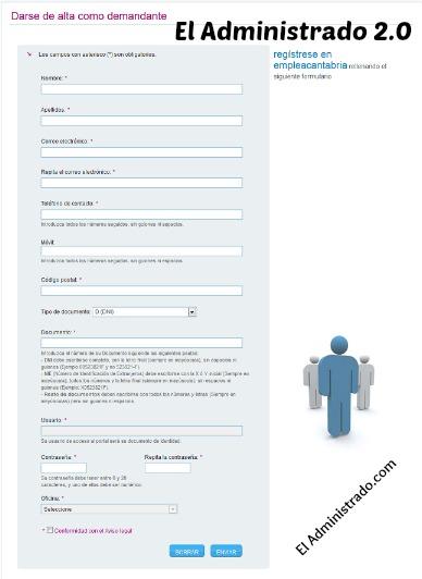 Cumplimenta el formulario con tus datos