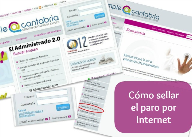 C mo sellar el paro por internet el administrado 2 0 for Oficina virtual paro