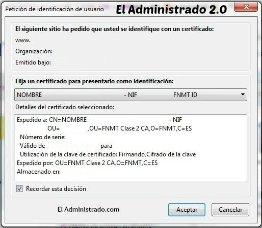Identificarse en una web con un certificado digital