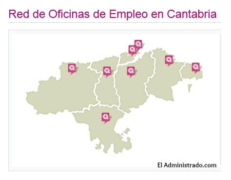 Oficinas de Empleo de Cantabria y áreas que les corresponden