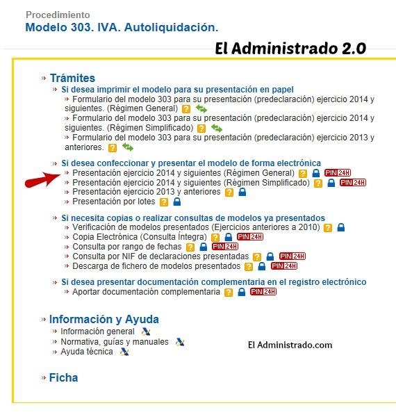 Para presentar el Modelo 303 del IVA online