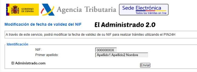 Confirma que quieres cambiar la fecha de tu NIF