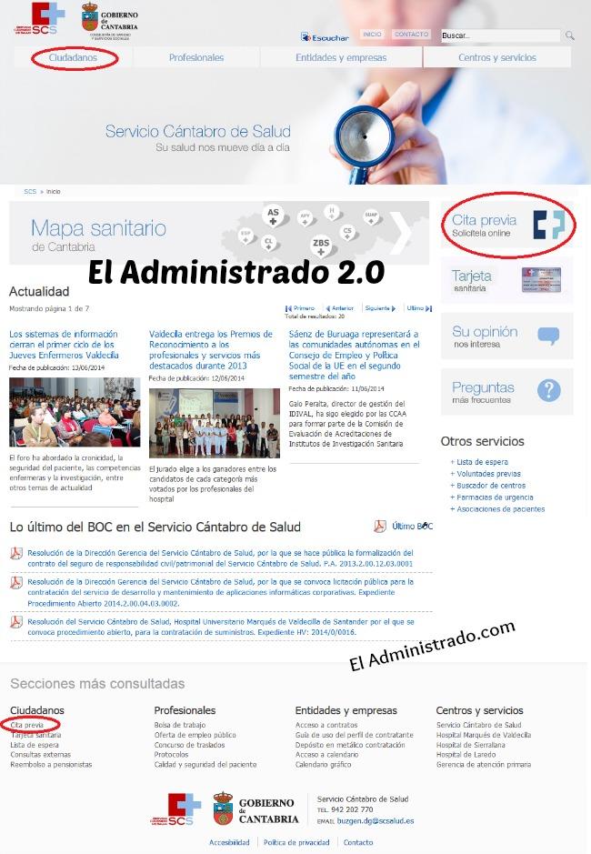 Portal del Servicio Cántabro de Salud