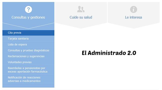 Sección dedicada a las distintas gestiones y consultas que pueden hacerse online