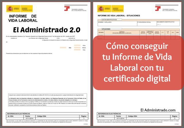 Cómo conseguir tu Informe de Vida Laboral con tu certificado digital